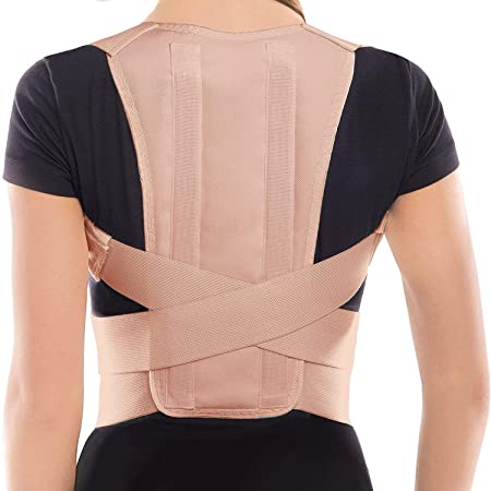 TOROS-GROUP Corrector Postura y Soporte para Espalda- corrección de postura- el Apoyo a La Columna Vertebral- Cinturón Para Alivio del Dolor de Espalda- ...