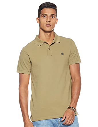 Timberland Millers River Polo para Hombre Verde A1S4JQ69: Amazon ...