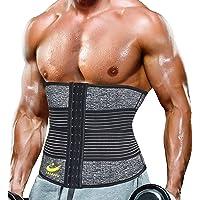 LazAWG Zweetgordel, maat voor heren, neopreen, sweatshirt, taillevormer, voor gewichtsverlies, sauna, taillevormer