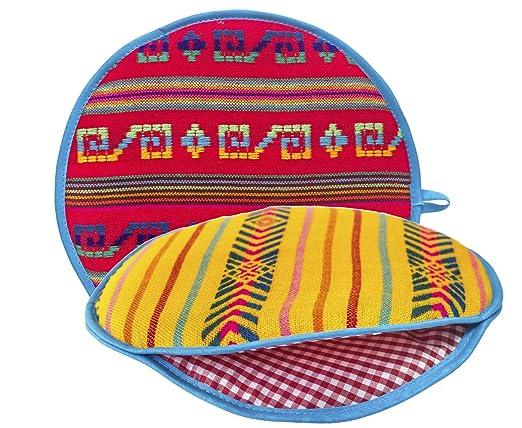 Funda para calentador de tortillas de tela mexicana ...