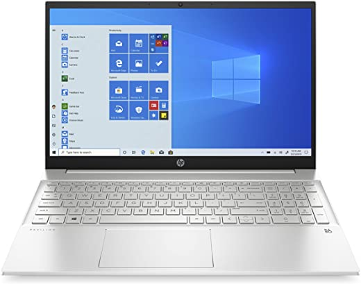 "HP - PC Pavilion 15-eh0000nl Notebook, AMD Ryzen 5 4500U, RAM 8 GB, SSD 512 GB, Grafica AMD Graphics, Windows 10 Home, Schermo 15.6"" FHD IPS, Lettore Impronte digitali, Webcam, Argento"