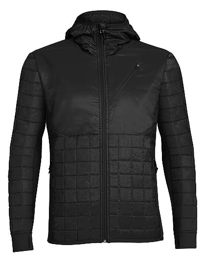 7b845cf37f3 Amazon.com: Icebreaker Merino Men's Helix Hooded Jacket, Merino Wool ...