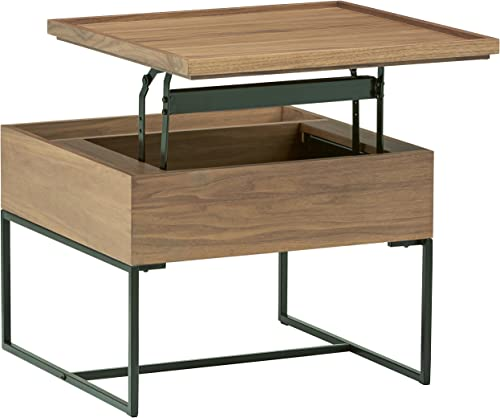 Amazon Brand Rivet Axel Lift-Up Storage Wood and Metal Side End Table