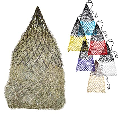 """b1c7ba4031 Derby Originals 42"""" Superior Slow Feed Soft Mesh Poly Rope Hanging Hay  Net with 2x2"""""""