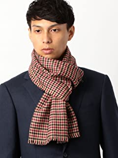 Merino Wool Scarf Gun Club Check 3136-343-0330: Beige