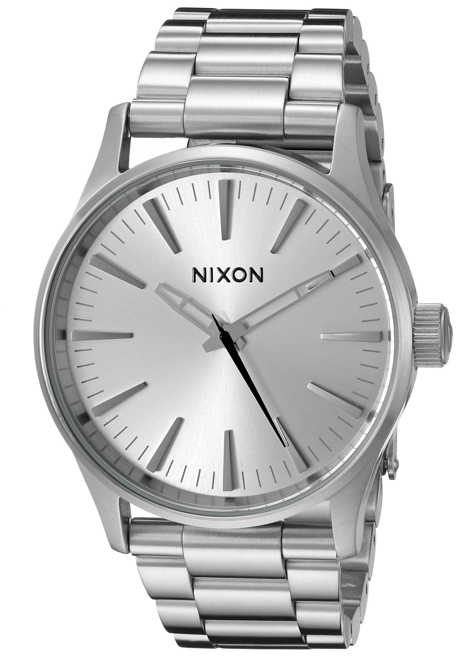 Nixon Men's A4501920 Sentry 38 SS Analog Display Analog Quartz Silver Watch