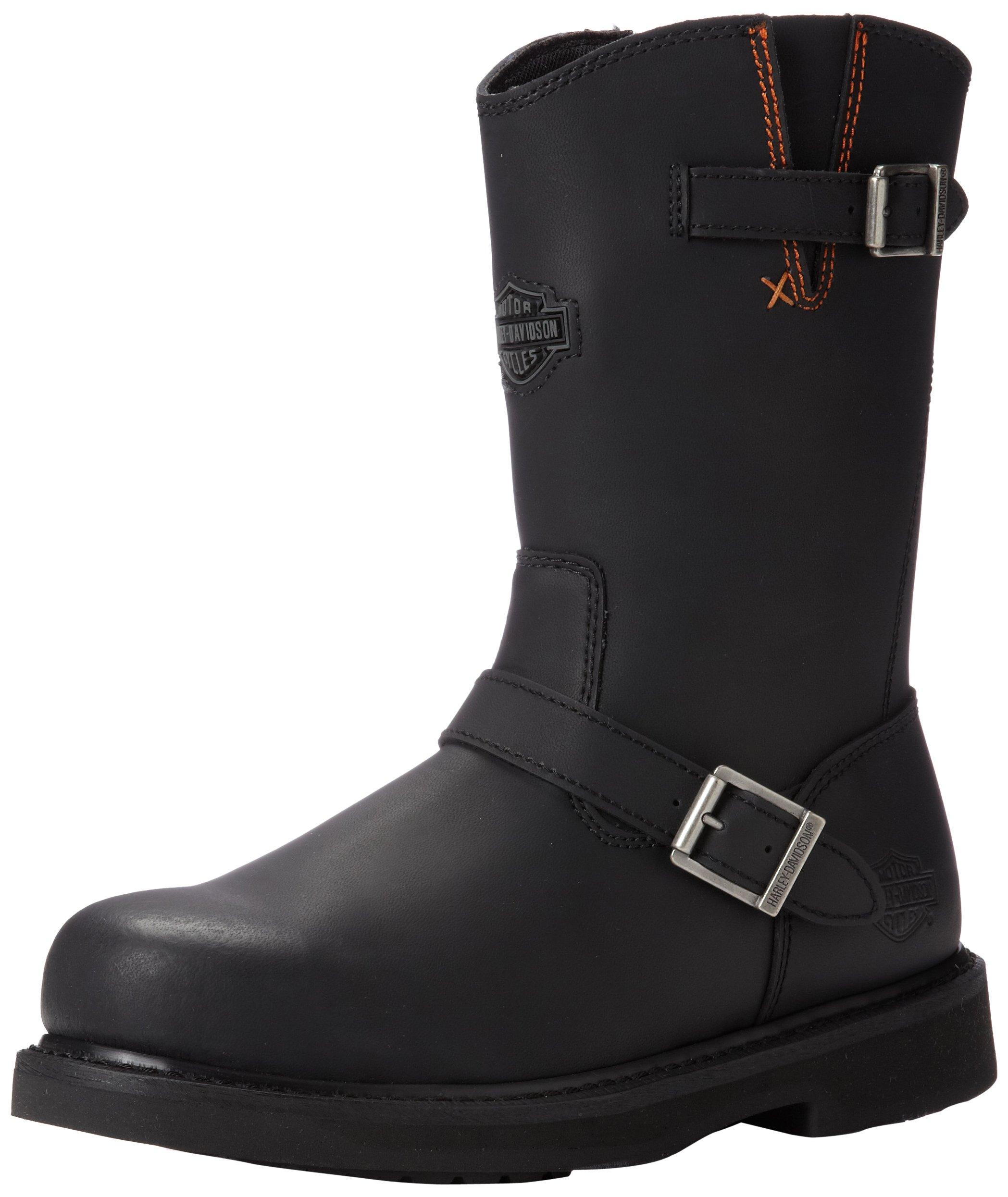 Harley-Davidson Men's Jason ST Engineer Safety Boot, Black, 8 M US
