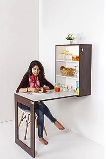 IB Folding Wall Mounted Multipurpose Dining, Bar, Work, Office Table (Dark  Walnut