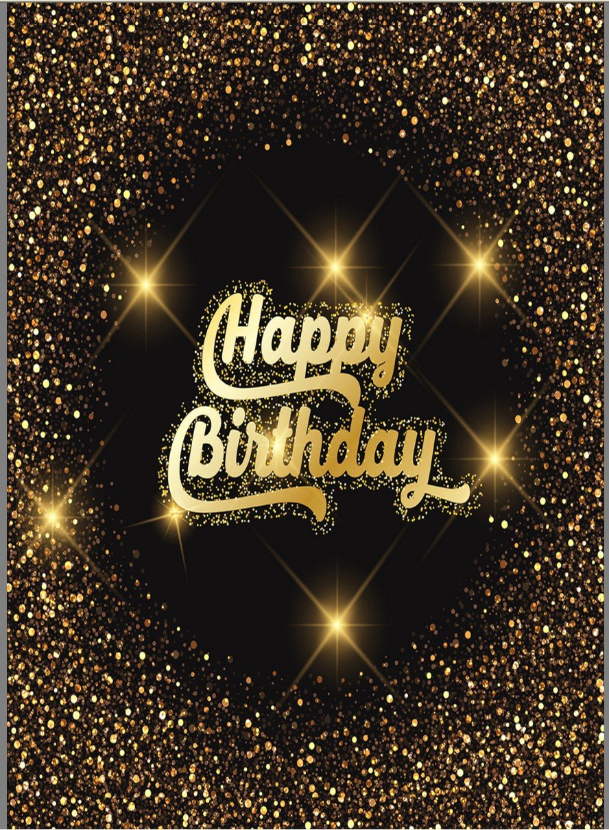 5x7ft Dark Gold Sequins Spots Wall Sparkles photo backdrop High-grade portrait cloth Computer printed happy birthday Photography Backgrounds ctz-0404