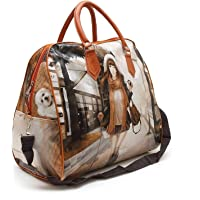 KNOWTEQ Travel Polyester Digital printed duffelbag, Hobo Handbag Storage Carrying Bag for Ladies/Woman/Girls (Color & Design may vary)