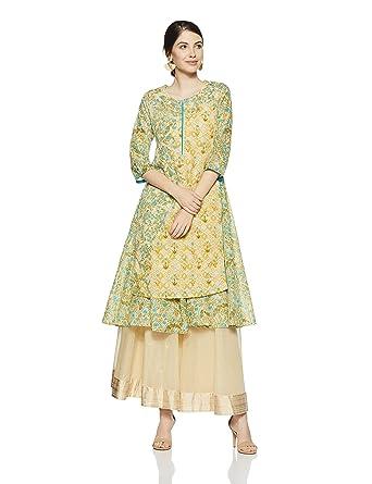 43429223d1f Rangriti Women s Anarkali Kurta  Amazon.in  Clothing   Accessories