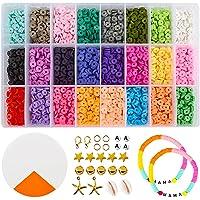 Kralen voor kettingen polymere klei kralen voor sieraden maken armbanden cadeau voor kinderen heldere kleuren (5400st)
