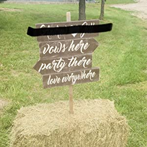 Wedding Directional Signs Arrows Rustic Signage Reception Photo Props Bridal Shower Road Directions Outdoor Decorations
