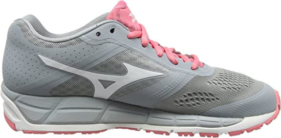 Mizuno Mizuno Synchro Mx - Zapatillas de running Mujer, color Gris - Grey (Quarry/White/Strawberry Pink), talla 43 EU (9 UK): Amazon.es: Zapatos y complementos