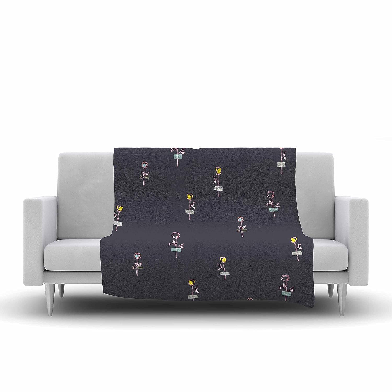 Deny Designs Ingrid Padilla Petal Fleece Throw Blanket 50 x 60