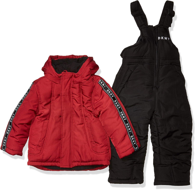 DKNY Boys' Toddler 2 Piece Snowsuit Set, Classic