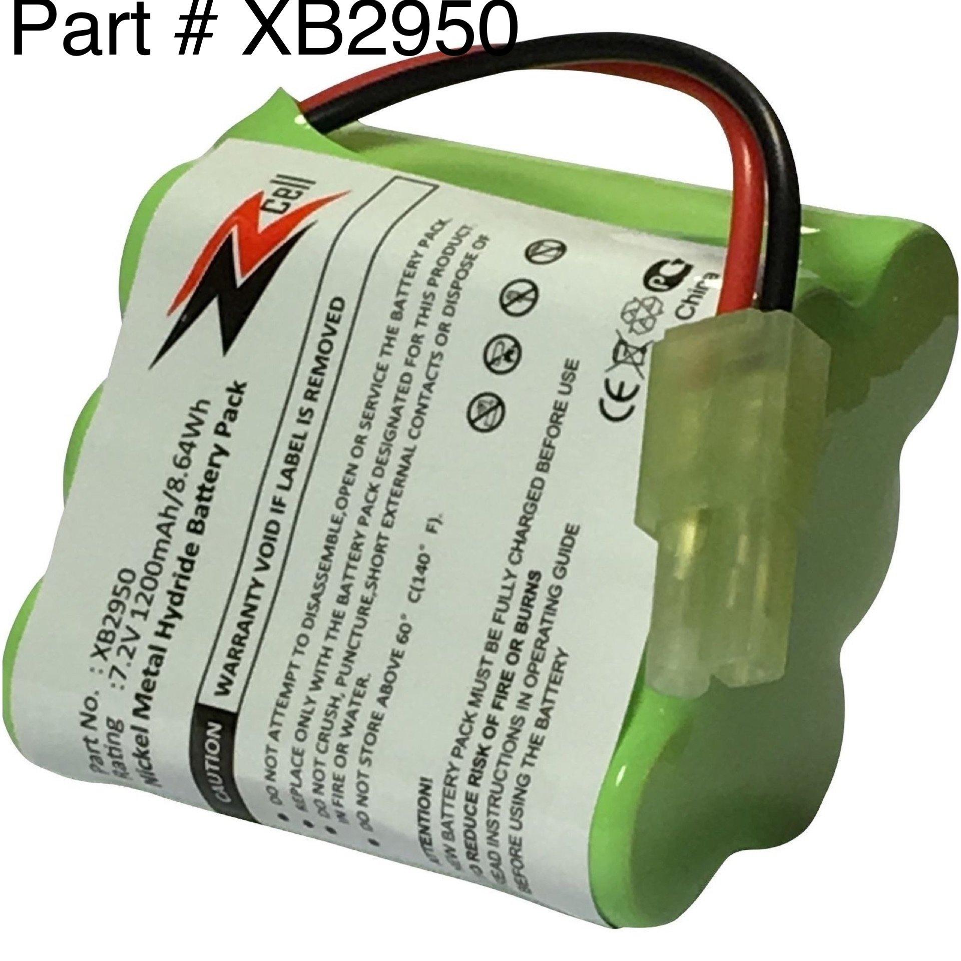 ZZcell Battery For Euro Pro Shark Vacuum Carpet And Carpet Sweeper XB2950, V2945, V2945Z, V2950, V2950A 1200mAh by ZZcell