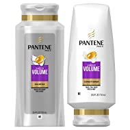 Pantene, Shampoo and Conditioner Kit, Sulfate Free, Pro-V Sheer Volume for Fine Hair, 25.4 oz and 24 oz, Kit