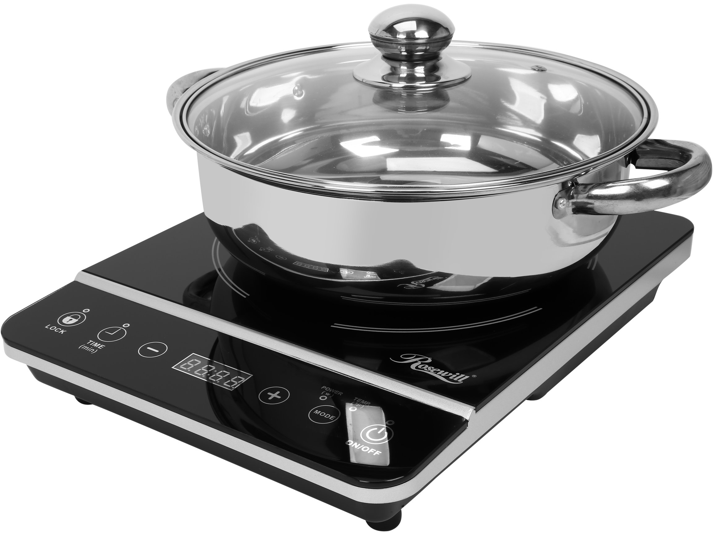 Rosewill RHAI-13001 1800W Induction Cooker Cooktop with Stainless Steel Pot, Black by Rosewill