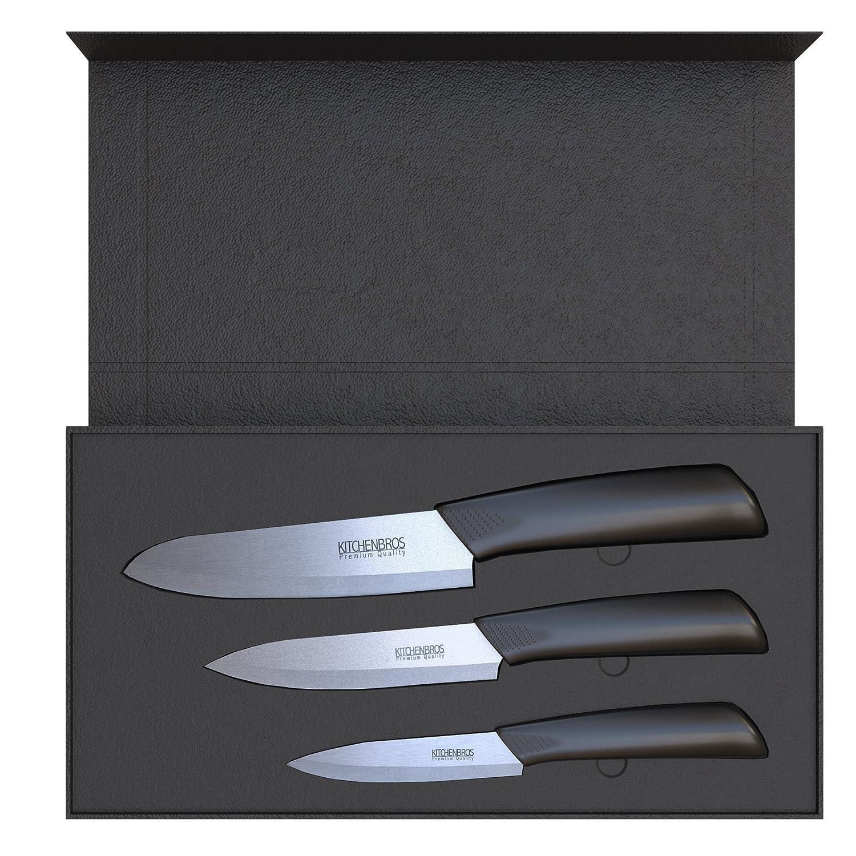 KITCHENBROS Edles Keramikmesser Küchenmesser Set - Messerset in ...