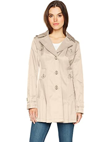 5e8d9912a70b Via Spiga Women s Single-Breasted Belted Trench Coat with Hood
