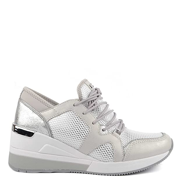 MICHAEL Michael Kors Scarpe Scout Sneaker Argento e Bianco Donna 40 Argento/Bianco 1Rd6XkGI