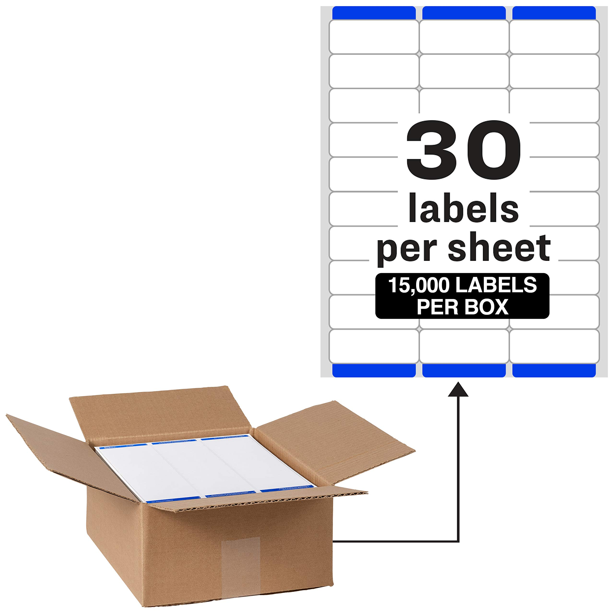 Avery Address Labels with Sure Feed for Laser Printers, 1'' x 2-5/8'', 15,000 Labels - Great for FBA Labels (95915) by AVERY