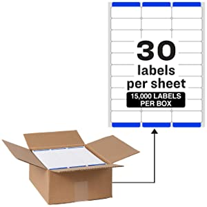"""Avery Address Labels with Sure Feed for Laser Printers, 1"""" x 2-5/8"""", 15,000 Labels – Great for FBA Labels (95915)"""