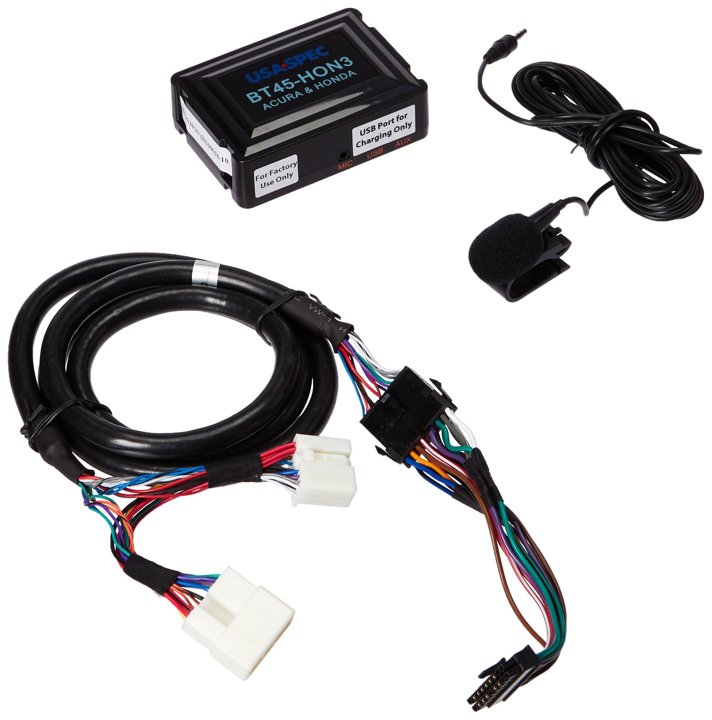 USA SPEC BT45-HON3 Bluetooth Phone, Music & AUX Input Kit for Select 2003-2014 Honda & Acura Models