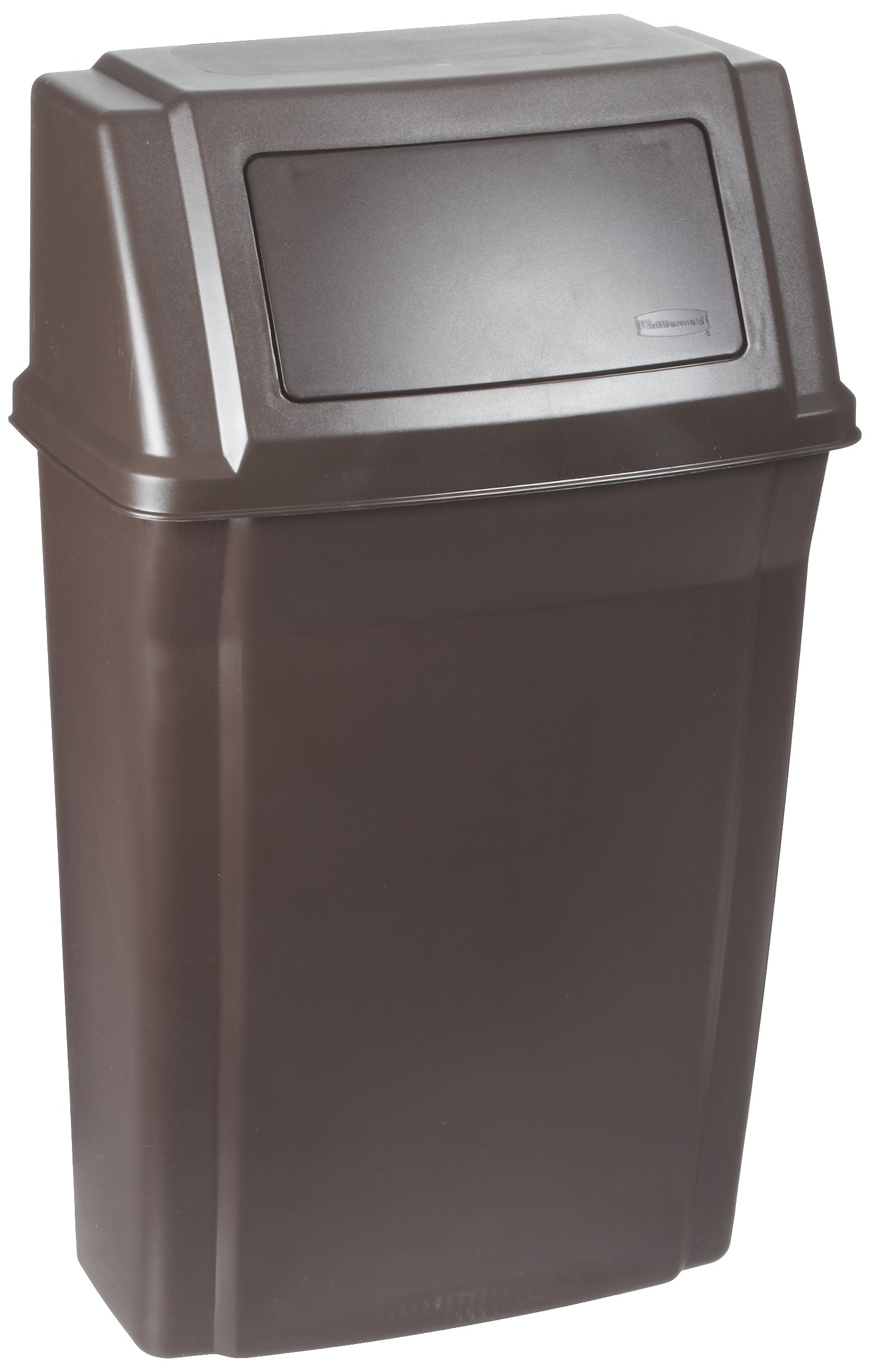 Rubbermaid Commercial Wall Mount Trash Can, 15 Gallon, Brown, FG782200BRN