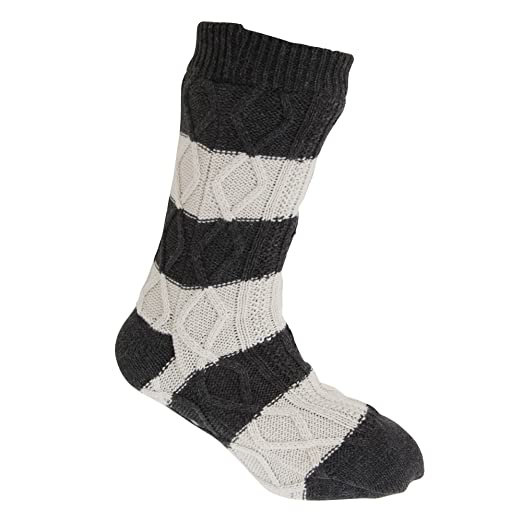 Amazon Tom Franks Mens Cable Knit Slipper Socks One Size