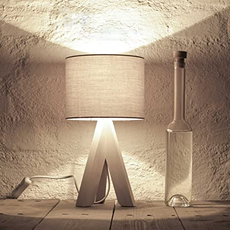 Edle lámpara de mesa en gris Butt Incluye 1 x 6 W E14 LED ...