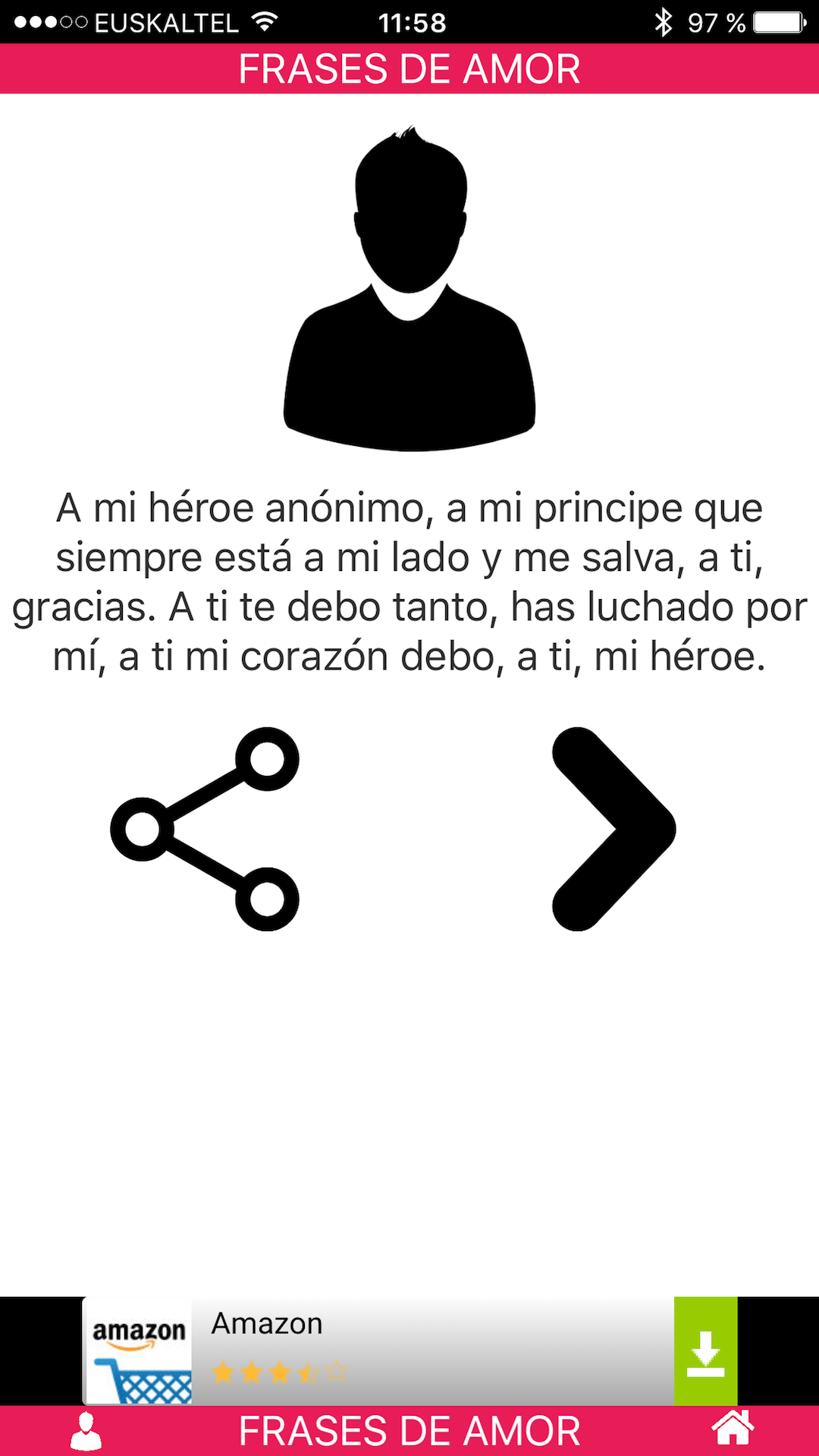 Amazon Com Frases De Amor Appstore For Android