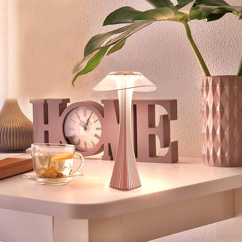 luce notturna per camera da letto e ufficio ZMH Lampada da tavolo a LED lampada da comodino a batteria dimmerabile touch lampada da tavolo moderna per lampada da comodino in PMMA