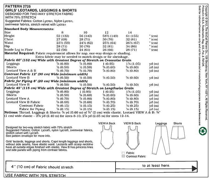 KWIK-SEW PATTERNS K2725 - Patrones e instrucciones para hacer ...