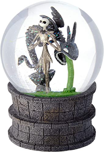 Department 56 Disney Classic Brands Nightmare Before Christmas Jack in The Fountain Globe Waterball, 6.25 Snowglobe, Multicolor