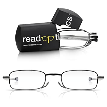 954551c444 Read Optics Fold Up Pocket Glasses in Hard Travel Case +1.0 to 3.5  Patented