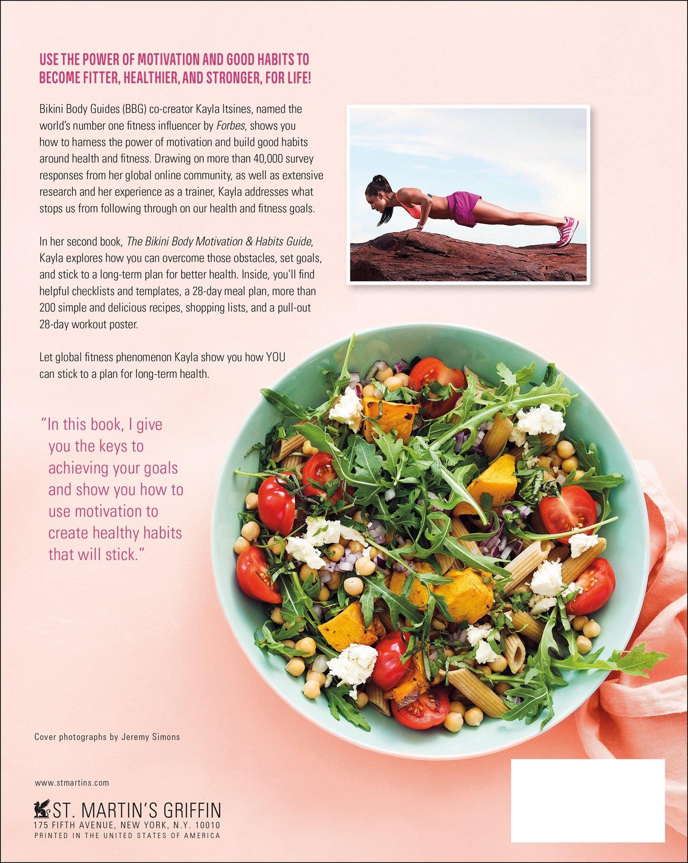 The bikini body motivation habits guide kayla itsines the bikini body motivation habits guide kayla itsines 9781250137616 amazon books fandeluxe Image collections