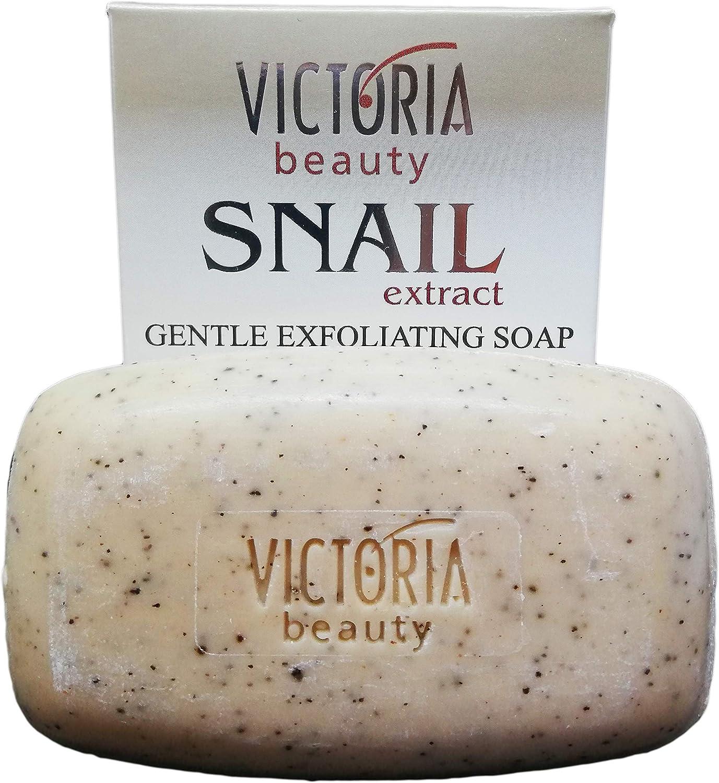 Jabón exfoliante suave con extracto de caracol de jardín y ...
