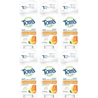 Tom's of Maine Natural Deodorant Stick, Apricot, 2.25 Ounce Stick, Pack of 6