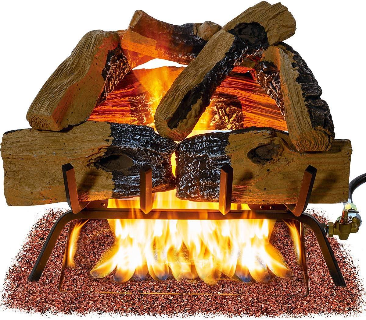 alpha-ene.co.jp Barton 18-inch Premium Vented Natural Gas Log Wood ...