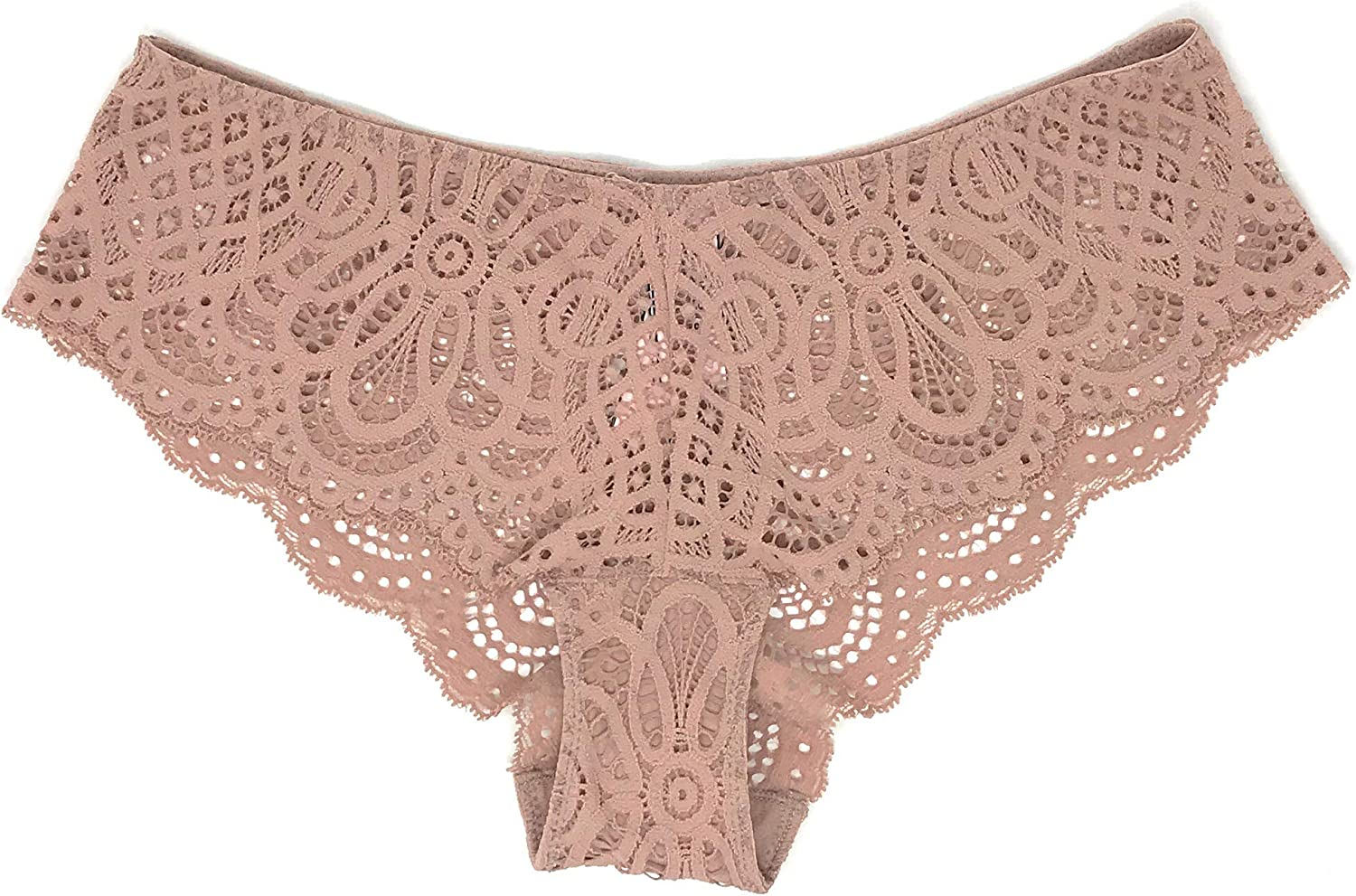 Victorias Secret Womens Dream Angels Beige Mid-Rise Cheeky Panty Small