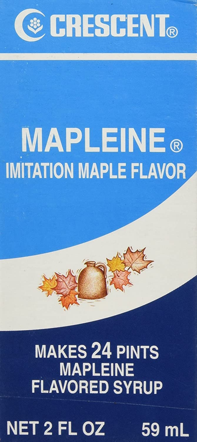Amazon.com : Crescent Mapleine Imitation Maple Flavoring 2oz Bottle (Pack  of 1) : Vanilla Beans Spices And Herbs : Grocery & Gourmet Food