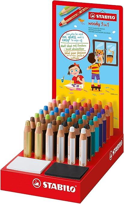 Stabilo 880/48 – 1 Woody 3 en 1 – Rotuladores de colores (Pack de ...