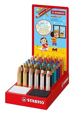 STABILO 880/48–1 Woody 3 in 1 Pen – sortiert Farben (48 Stück)