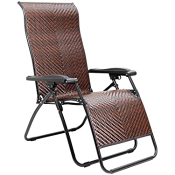 Homall Wicker Zero Gravity Pool Lounge Chair