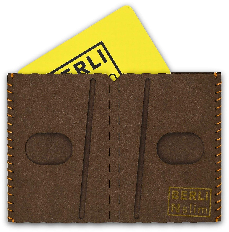Men's wallet, card-wallet, card-holder - paper, slim, minimalist, vegan, modern - brown - by BERLIN slim