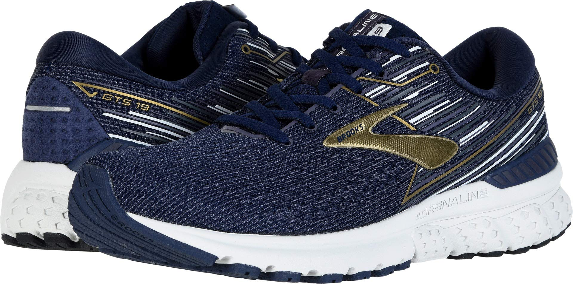 Brooks Men's Adrenaline GTS 19 Navy/Gold/Grey 11 D US by Brooks
