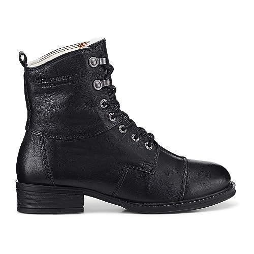 Ten Points PANDORA - Botines Mujer Cowboy Botas Motorista Botas - 122002 - Negro, 37: Amazon.es: Zapatos y complementos