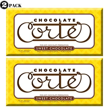 Chocolate Cortes Sweet Chocolate (2 Pack) 7 Oz each